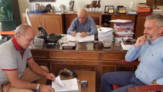 Υπεγράφη η σύμβαση για τα συμπληρωματικά έργα αποχέτευσης